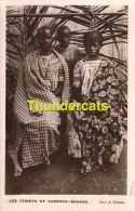 CPA  CARTE DE PHOTO CONGO LES FEMMES DE CABENDA BANANA PAR J A THOMAS - Autres
