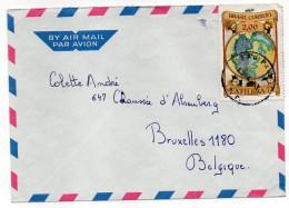 BRESIL--1973--Lettre De SAO PAULO Pour BRUXELLES-Belgique--Beau Timbre(EXFILBRA-72) Seul  Sur Lettre +cachet - - Brazilië