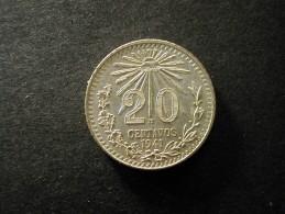 Mexico 20 Centavos 1941 Silver BU - Messico