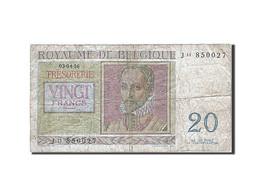 Belgique, 20 Francs, 1948-1950, KM:132b, 1956-04-03, B - [ 2] 1831-... : Royaume De Belgique