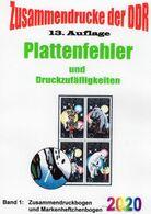 DDR 2019 Teil 5 Abarten Bogen-ZD RICHTER Neu 25€ Katalog Zusammendrucke Se-tenants Error Special Catalogues Germany - DDR