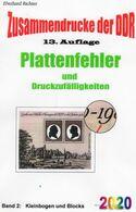Plattenfehler RICHTER 2016 DDR Teil 5 PF In KB/Blocks Neu 15€ Zusammendrucke Se-tenants Error Special Catalogue  Germany