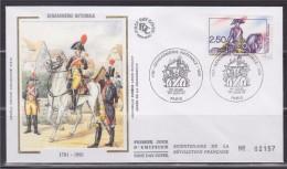 = Bicentenaire De La Gendarmerie Nationale 1er Jour Paris 1.6.91 N°2702 Bicentenaire De La Révolution Française - FDC