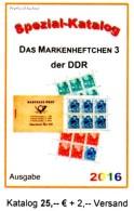 Markenheft RICHTER 2016 DDR Teil 6 Katalog Nur MH 3 Neu 25€ Booklet #3 Carnet+se-tenant Error Special Catalogue Germany - Zubehör