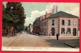 88. Remiremont. La Poste Et Le Boulevard Thiers. 1917 - Remiremont