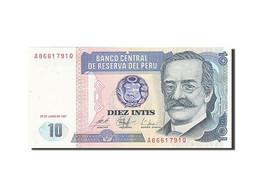 Pérou, 10 Intis, 1985-1991, KM:129, 1987-06-26, NEUF - Pérou