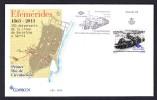 SPAIN ESPAGNE 2013  FDC TRAIN 150 ANNIVERSARY OF LINE BARCELONA-SARRIA. RAILWAY - Trains