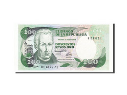 Colombie, 200 Pesos Oro, 1982-1984, KM:429A, 1992-08-10, NEUF - Colombie