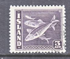 ICELAND  218   (o)   FISH - 1918-1944 Autonomous Administration