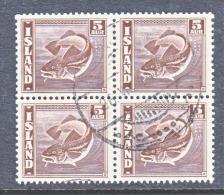 ICELAND  219 X 4   (o)   FISH - 1918-1944 Autonomous Administration