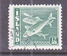 ICELAND  223   (o)   FISH - Used Stamps