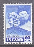 ICELAND  250   (o)    VOLCANO - 1944-... Republic