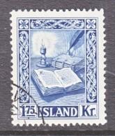 ICELAND  281   (o)    BOOK  PRINTING - 1944-... Republic