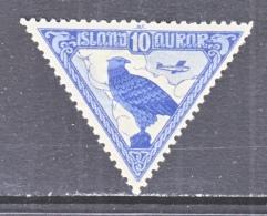 ICELAND   C 3   Fault    (o)   TRIANGLE - Airmail