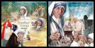 SOLOMON Isl. 2013 - M. Teresa, Pope Paul John II - YT 1627-30 + BF173; CV = 20 € - Papes