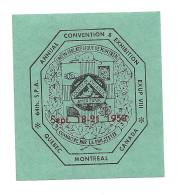 B26-27 CANADA Montreal UPM Philatelic Americans 1958 Exhibition Blue-green MLH - Cinderellas