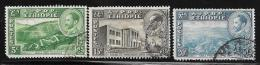 Ethiopia, Scott # 288,290A,291 Used Various Subjects, 1947, All Have Short Perfs - Ethiopia