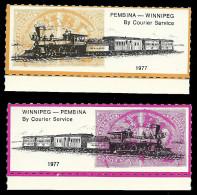 B27-32 CANADA-USA Winnipeg Pembina Bileski Local Post 1977 MNH - Local, Strike, Seals & Cinderellas