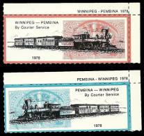B27-33 CANADA-USA Winnipeg Pembina Bileski Local Post 1978 MNH - Local, Strike, Seals & Cinderellas