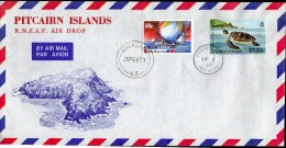 PITCAIRN Is, 1987 RNZAF AIRDROP COVER - Timbres