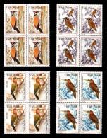 Blocks 4 Of Vietnam Viet Nam MNH Perf Stamps 1999 : Woodpecker / Bird (Ms805) - Vietnam