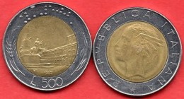 X/  ITALIE ITALY  500 LIRE 1987 Bimétal - 1946-… : Republic