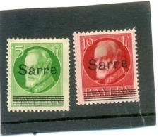 1920 SARRE Y & T N° 18 - 19A ( O ) Surchargés - 1920-35 Société Des Nations