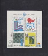 Olympics 1980 - Chess - URUGUAY - Sheet MNH - Summer 1980: Moscow
