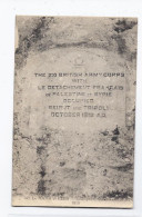 CPA LIBAN - Le NAHR Et KELB - Inscription Commémorative 1918 THE XXI BRITISH ARMY CORPS PALESTINE SYRIE BEIRUT TRIPOLI - Liban