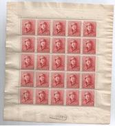 168A  Feuille 25 - 1919-1920 Albert Met Helm