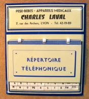 GLACOIDE REPERTOIRE TELEPHONIQUE PESE-BEBES APPAREILS MEDICAUX CHARLES LAVAL 7 RUE DES ARCHERS LYON - Other