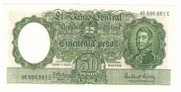 Argentina 50 Pesos, UNC,  FREE SHIP. To U.S.A. - Argentina