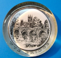 PRESSE-PAPIERS HEREFORD WYE BRIDGE / ORIGINAL TALISMAN PAPERWEIGHT MADE IN ENGLAND BY COTSWOLD RURAL CRAFTS STOW-ON-THE- - Presse-papiers
