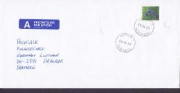 Norway A PRIORITAIRE Par Avion Label HØYDEN (1.) Moss 1999 Cover Brief Denmark Flower Blume Stamp - Norwegen