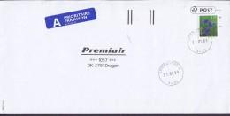 Norway A PRIORITAIRE Par Avion Label SPIKKESTAD 1999 Cover Brief Denmark Flower Blume Stamp - Norwegen