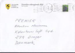 Norway TELEMARK FYLKESKOMMUNE, NOTODDEN 1999 Cover Brief Denmark Axe Cachet Flower Blume Stamp - Norwegen
