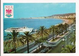 """>> 06 - NICE: La Promenade Des Anglais Et La Baie Des Anges  - 1972 - Le  Bateau """" Gallus """" - Fiat 500 - - Nice"""