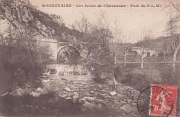 Cp , 19 , ROQUEVAIRE , Les Bords De L'Huveaume , Pont Du P.L.M. - France