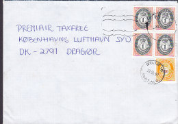 Norway BODØ Sort. Aud. 1997 Cover Brief Denmark 5x Posthorn Stamps - Norwegen