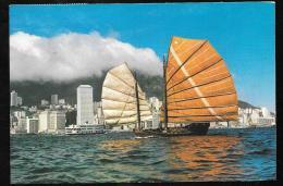 Cpsm - Gf -    Cruising Junk At Hong Kong Harbour - Hax87 - China (Hong Kong)