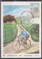 Journée Du Timbre 1972, Carte Postale 33 Bordeaux 18.3.72 Timbre 1710 Facteur Rural Et Eglise De Champignelles Yonne - 1970-79