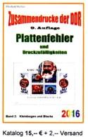 Plattenfehler RICHTER 2016 DDR Teil 5 PF In KB/ Blocks Neu 15€ Zusammendrucke Se-tenants Error Special Catalogue Germany - German