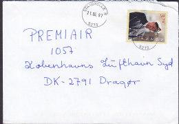 Norway A PRIORITAIRE Par Avion Label STANGHELLE 1997 Cover Brief Denmark König King Harald V. - Norwegen