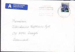 Norway A PRIORITAIRE Par Avion Label KOLSÅS 1999 Cover Brief Denmark Flower Blume Stamp - Norwegen
