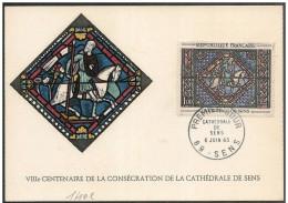 Francia/France: Maximum Card, Cattedrale Di Sens, Cathédrale De Sens, Sens Cathedral, Saint-Paul - Vetri & Vetrate