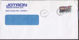 Norway JOTRON Electronics TJODALYNG 1988 Cover Brief Salvation Army Heilsarme Stamp - Briefe U. Dokumente