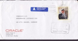 """Norway ORACLE A Prioritaire Par Avion Label SANDVIKA 1997 Cover Brief Boxed """"TAXE Percue"""" Postage Due King Harald V. - Norwegen"""
