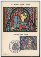 Francia/France: Maximum Card, La Santa Cappella, La Saint Chapelle, The Saint Chapelle, Paris - Vetri & Vetrate