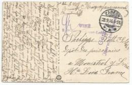 C40 - ZABERN - SAVERNE - Septembre 1916 - CP Pour Prisonnier Guerre Alsacien à MONISTROL SUR LOIRE - Censure  Visé - - Alsace Lorraine
