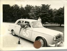 Photographie Originale. Automobile Peugeot 403. Photographe Jacques Cadé, Saint Brévin Les Pins. - Automobili